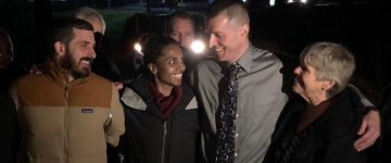 Nicholas McGuffin being released from prison. Photo courtesy of Nicholas McGuffin.